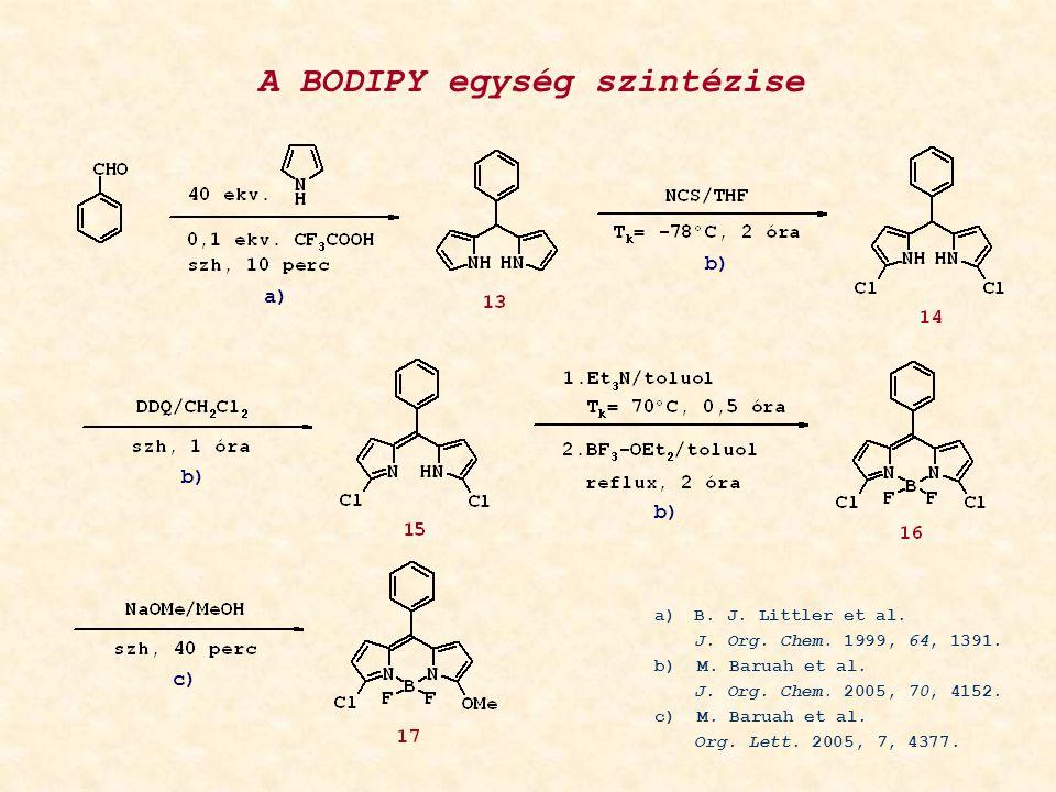 A BODIPY egység szintézise a) b) a)B. J. Littler et al.