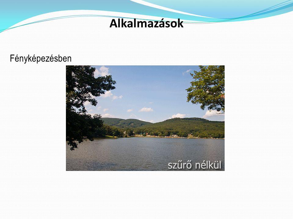 Alkalmazások Fényképezésben