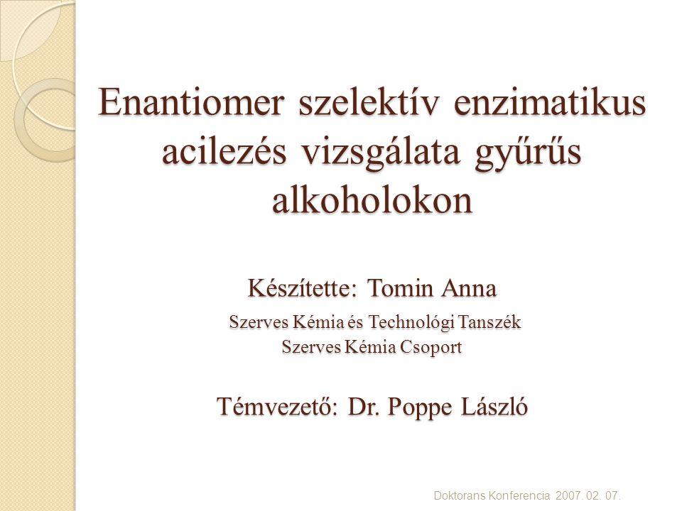 Doktorans Konferencia 2007. 02. 07.