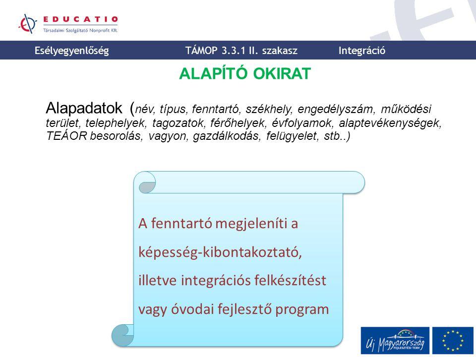 Esélyegyenlőségi Igazgatóság Educatio Társadalmi Szolgáltató Nonprofit Kft.