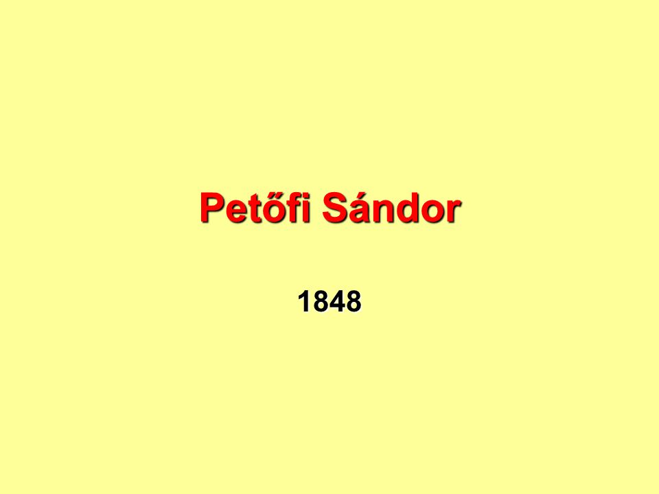 Petőfi Sándor 1848