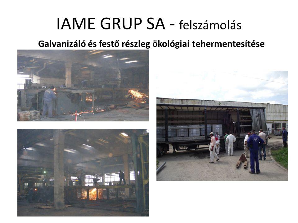 IAME GRUP SA - felszámolás Galvanizáló és festő részleg ökológiai tehermentesítése
