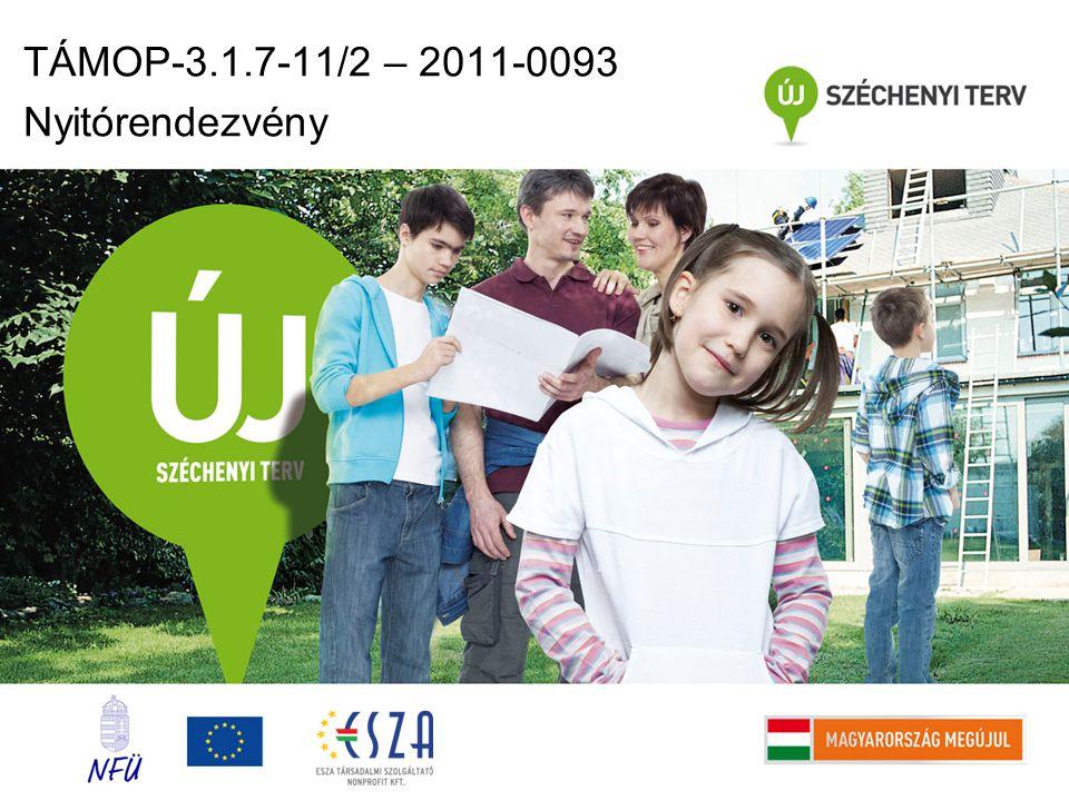 TÁMOP-3.1.7-11/2 – 2011-0093 Nyitórendezvény
