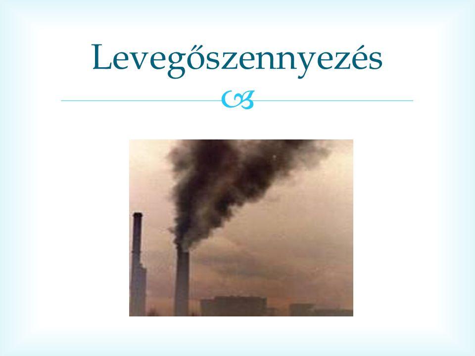  Szmog Az állandó szmog a városokban A gyárak füstje szennyezi a levegőt