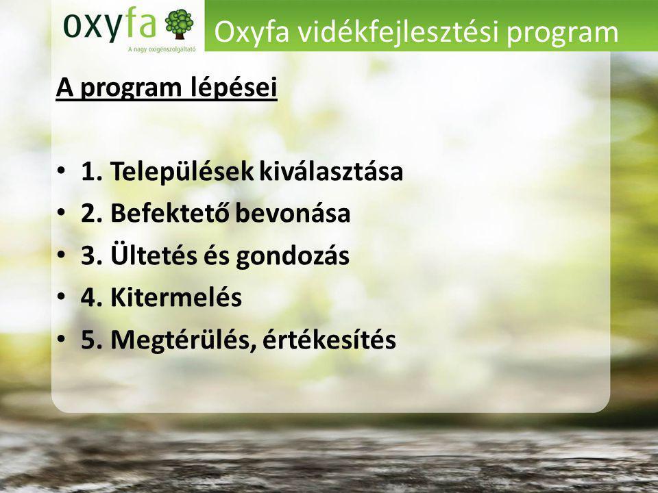 Oxyfa vidékfejlesztési program A program lépései 1.