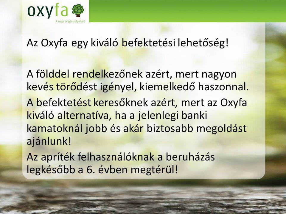 Az Oxyfa egy kiváló befektetési lehetőség.