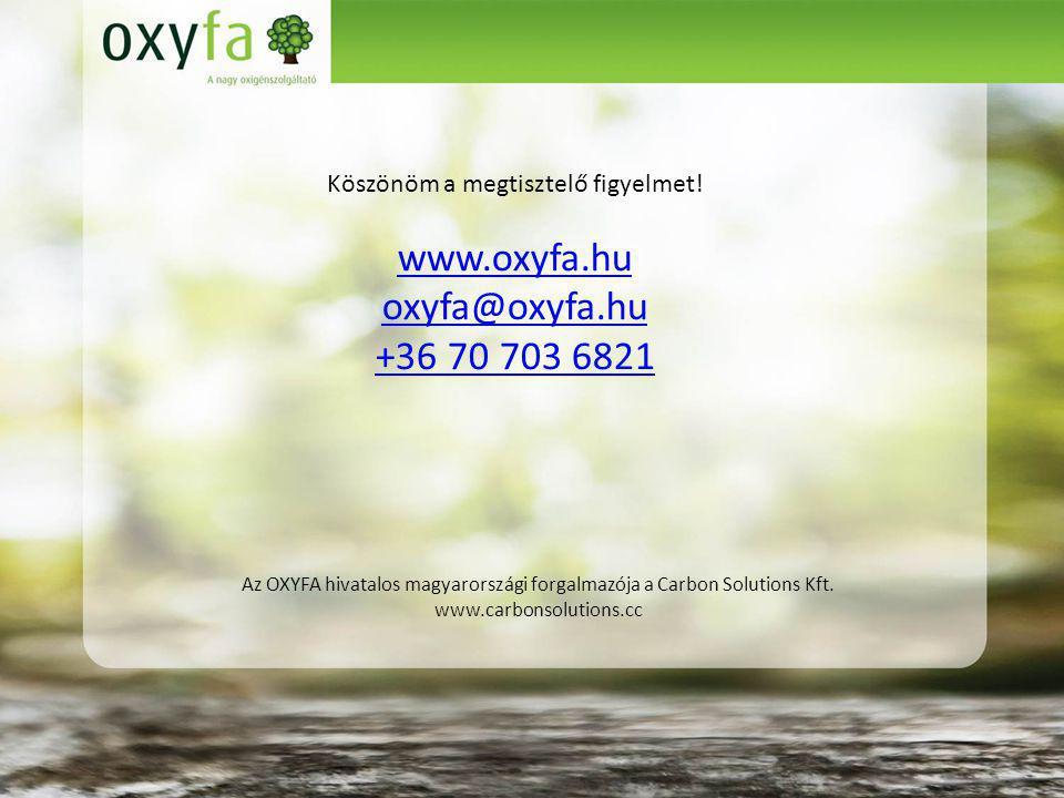 Az OXYFA hivatalos magyarországi forgalmazója a Carbon Solutions Kft.
