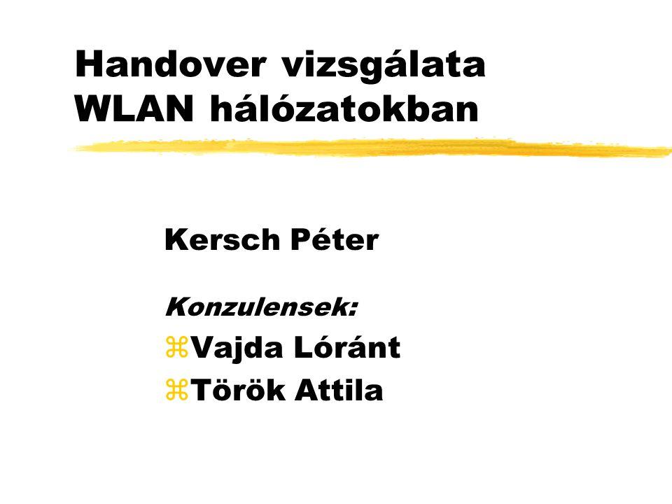 Handover vizsgálata WLAN hálózatokban Kersch Péter Konzulensek: zVajda Lóránt zTörök Attila