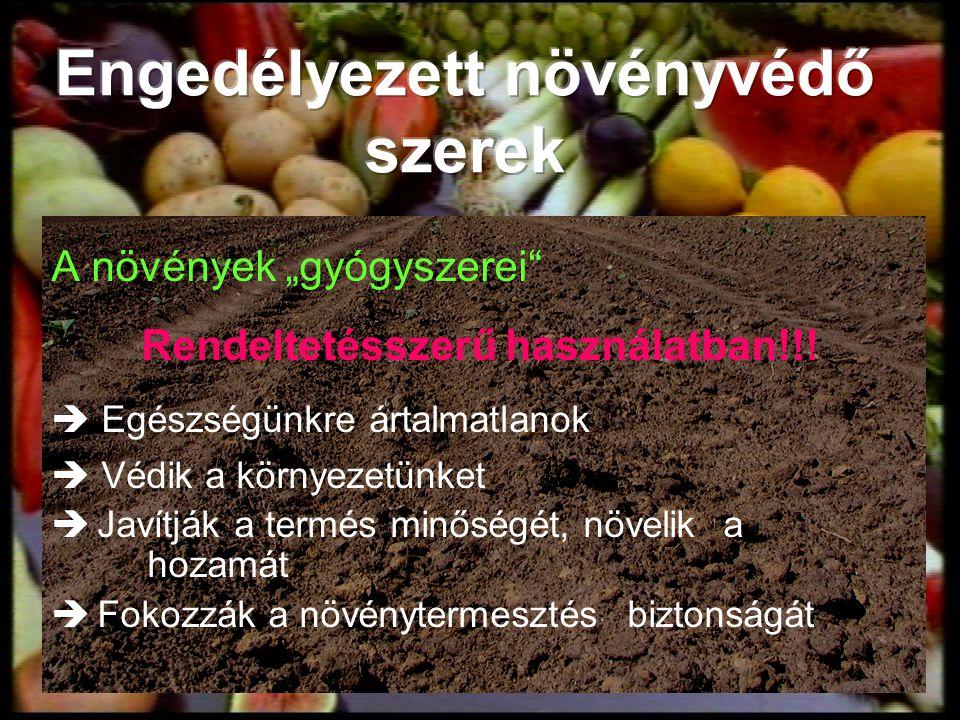 """A növények """"gyógyszerei"""" Rendeltetésszerű használatban!!!  Egészségünkre ártalmatlanok  Védik a környezetünket  Javítják a termés minőségét, növeli"""