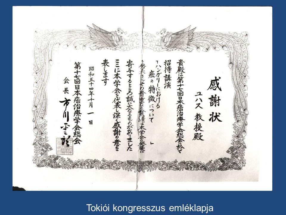 Tokiói kongresszus emléklapja