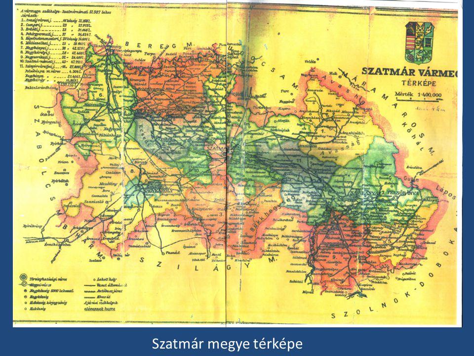 Szatmár megye térképe