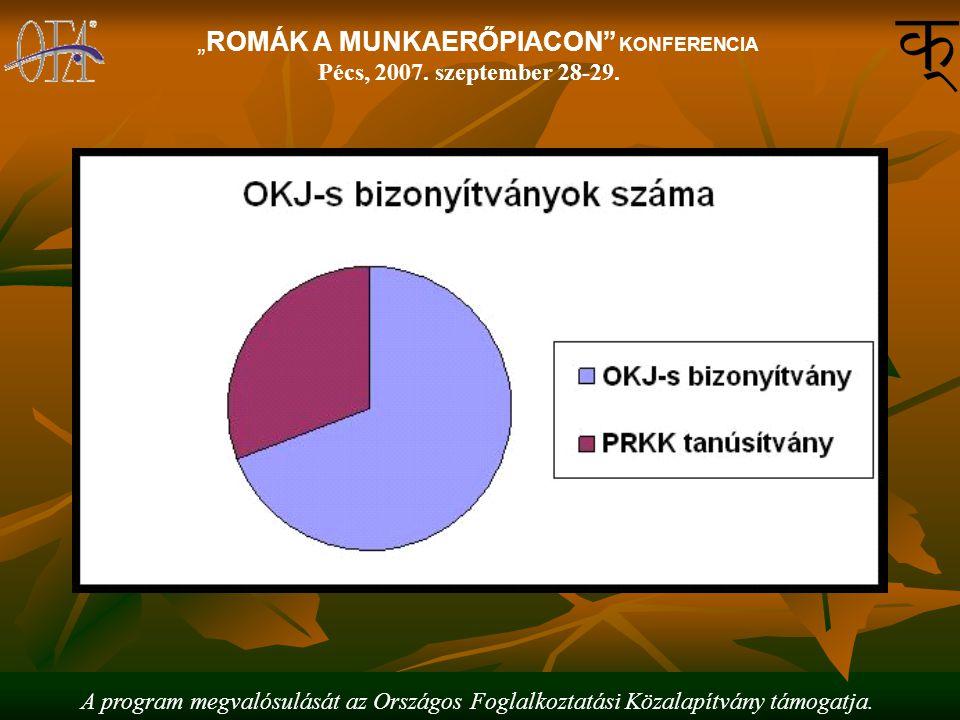 """A program megvalósulását az Országos Foglalkoztatási Közalapítvány támogatja. """"ROMÁK A MUNKAERŐPIACON"""" KONFERENCIA Pécs, 2007. szeptember 28-29."""
