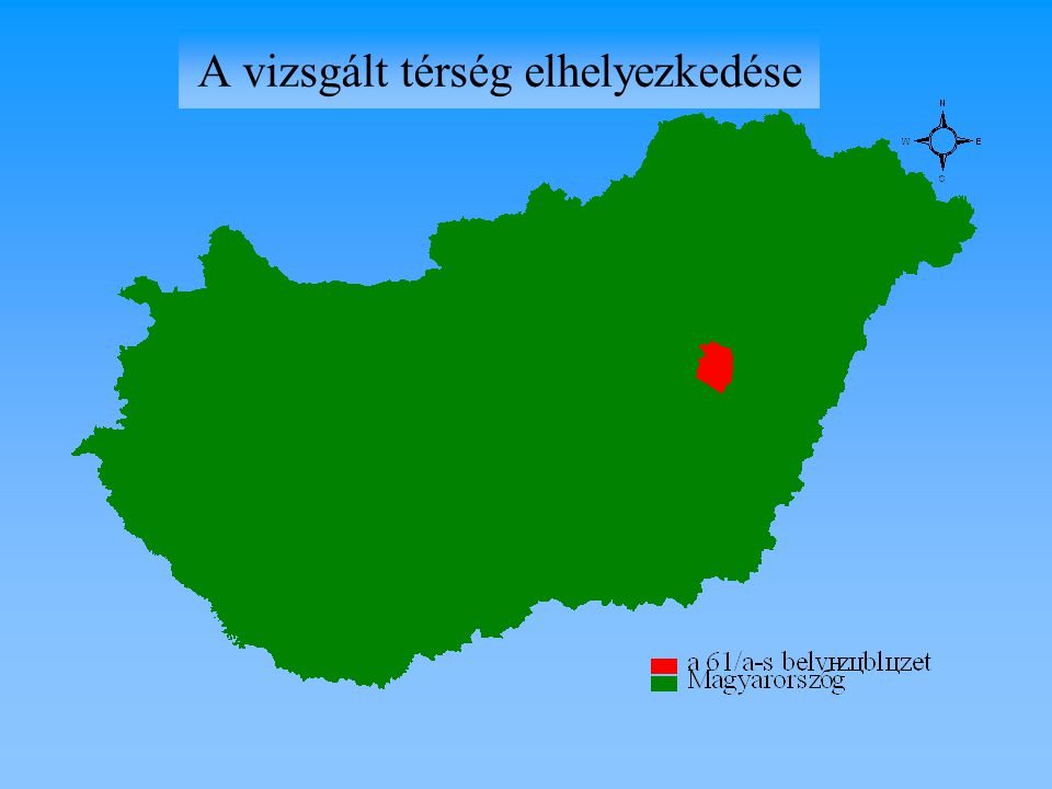 A vizsgált térség elhelyezkedése