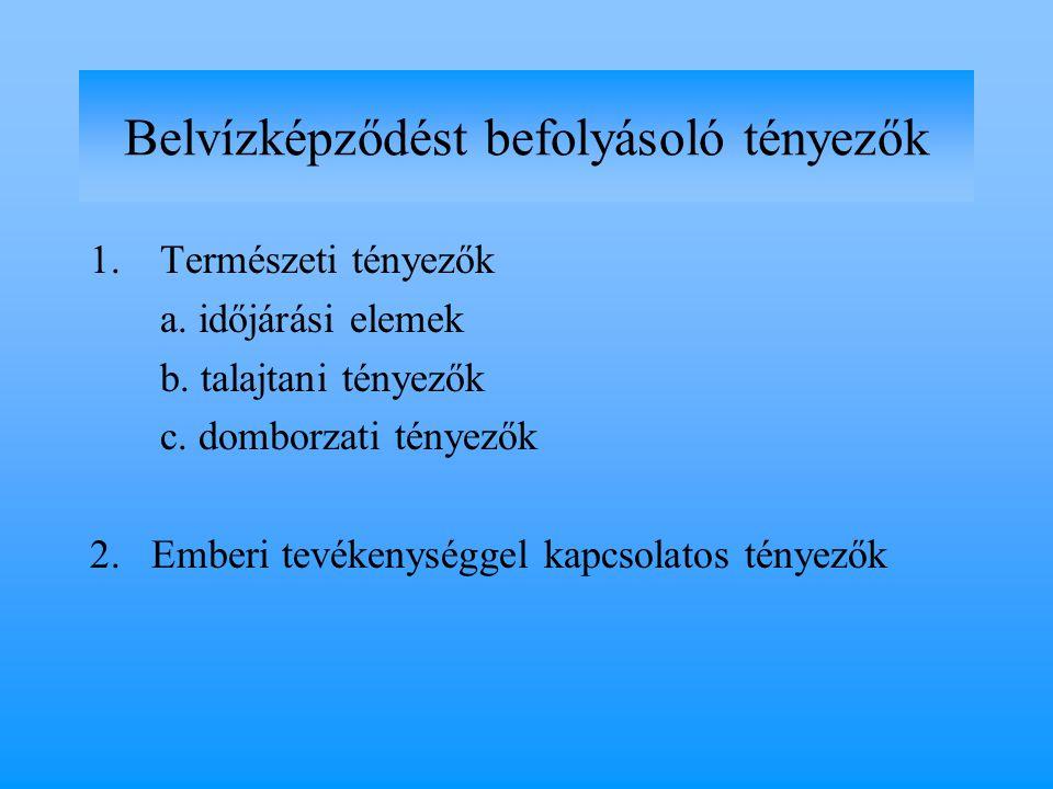 1.Természeti tényezők a. időjárási elemek b. talajtani tényezők c.