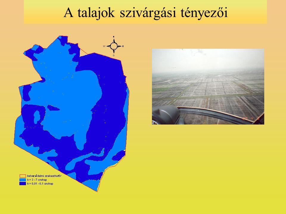 Maximális belvízi elöntések a vizsgálati területen 1999-2000-ben