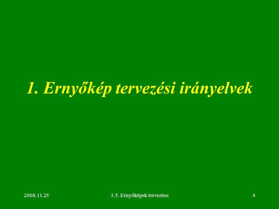 2008.11.253.5. Ernyőképek tervezése4 1. Ernyőkép tervezési irányelvek
