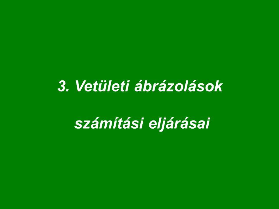 4.lépés: Leképezés: VKR-XY  KKR-UV VKR - xy: tárgytér, méretek: mm, inch, km, stb.