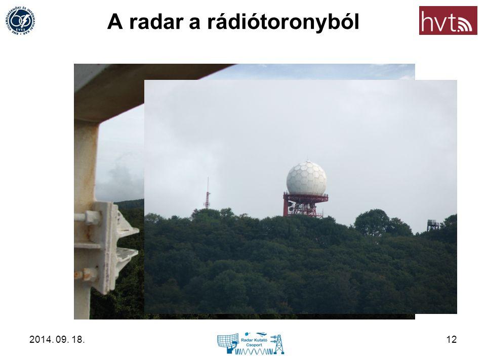 A radar a rádiótoronyból 2014. 09. 18.12