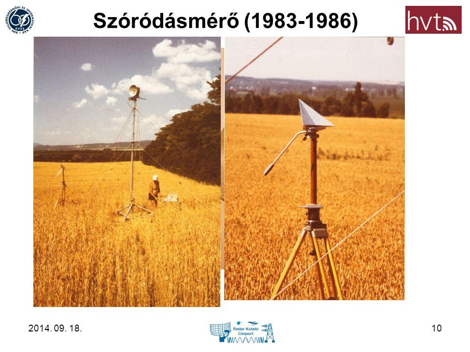 Szóródásmérő (1983-1986) 2014. 09. 18.10