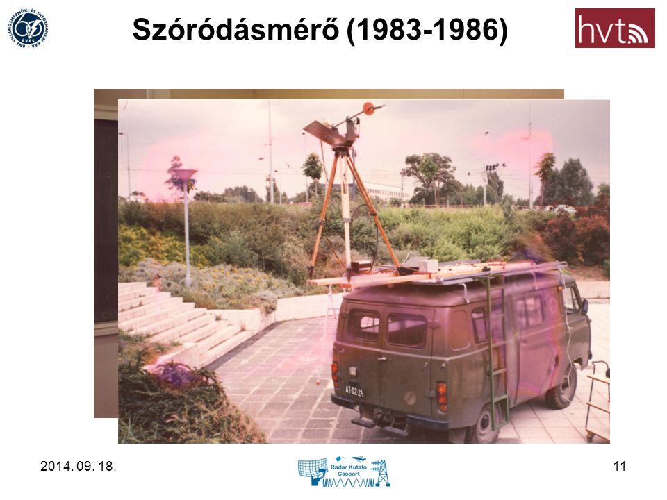 Szóródásmérő (1983-1986) 2014. 09. 18.11
