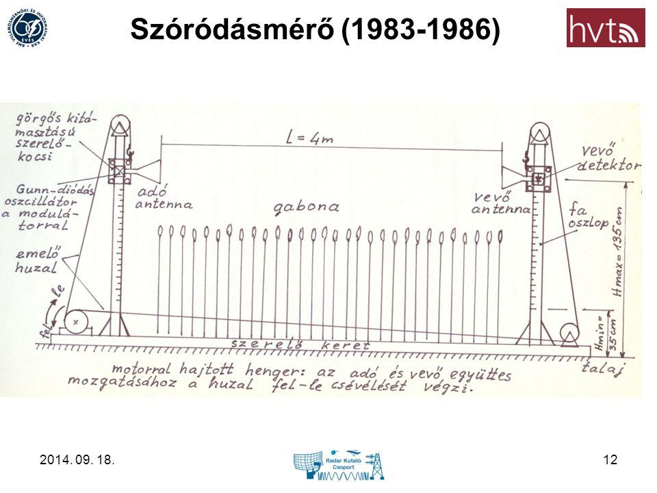 Szóródásmérő (1983-1986) 2014. 09. 18.12