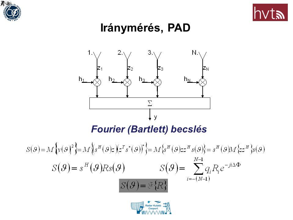 Iránymérés, PAD Fourier (Bartlett) becslés