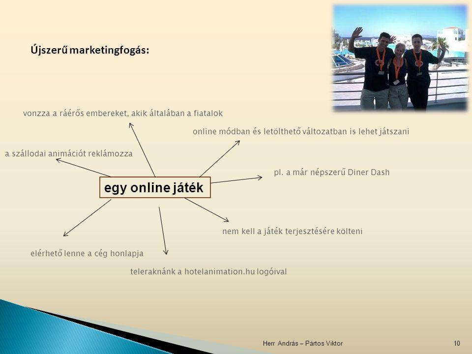 Herr András – Pártos Viktor10 Újszerű marketingfogás: egy online játék online módban és letölthető változatban is lehet játszani pl. a már népszerű Di