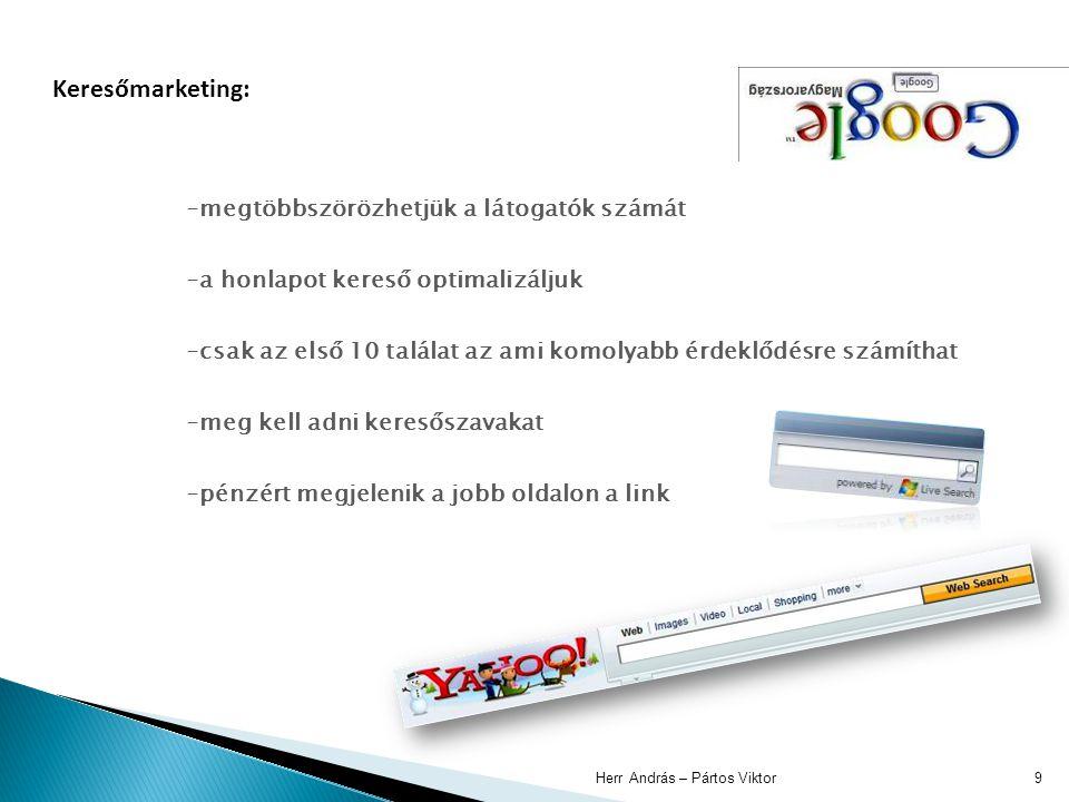 Herr András – Pártos Viktor10 Újszerű marketingfogás: egy online játék online módban és letölthető változatban is lehet játszani pl.