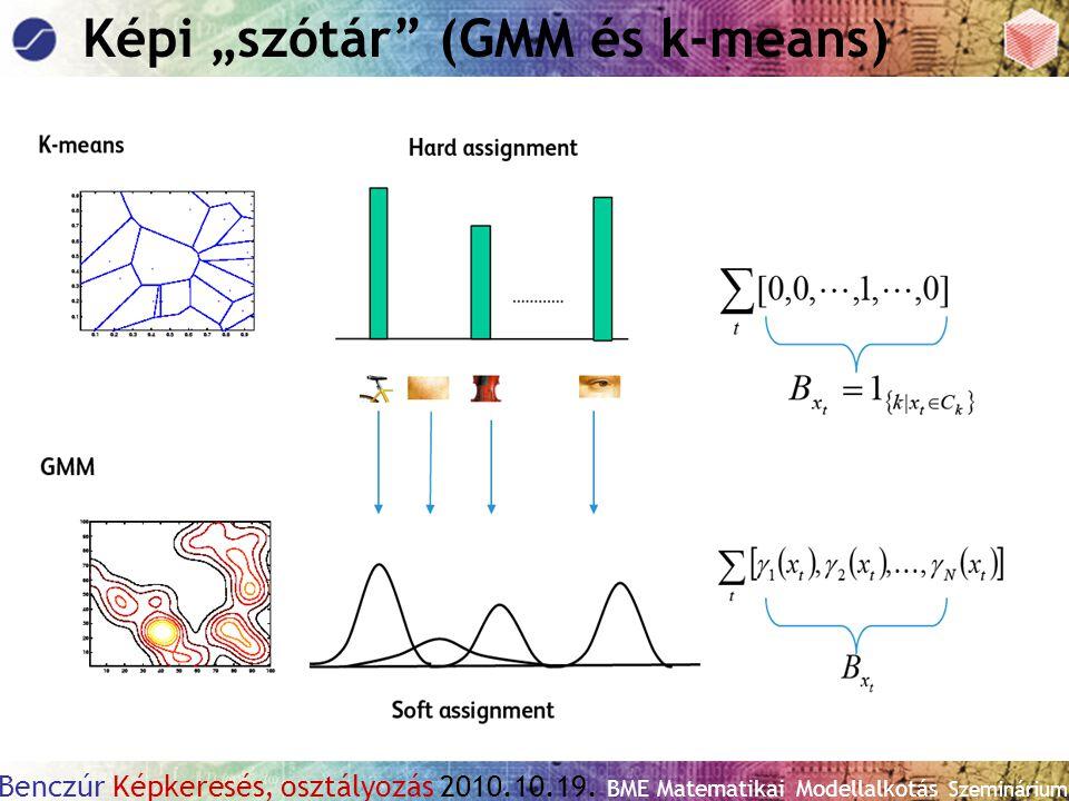 """Benczúr Képkeresés, osztályozás 2010.10.19. BME Matematikai Modellalkotás Szeminárium Képi """"szótár"""" (GMM és k-means)"""