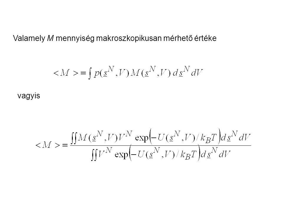 Valamely M mennyiség makroszkopikusan mérhető értéke vagyis