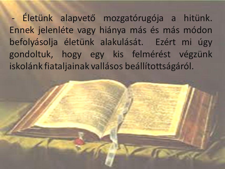 A Szent László Római Katolikus Gimnázium teológia szakos IX- XII.