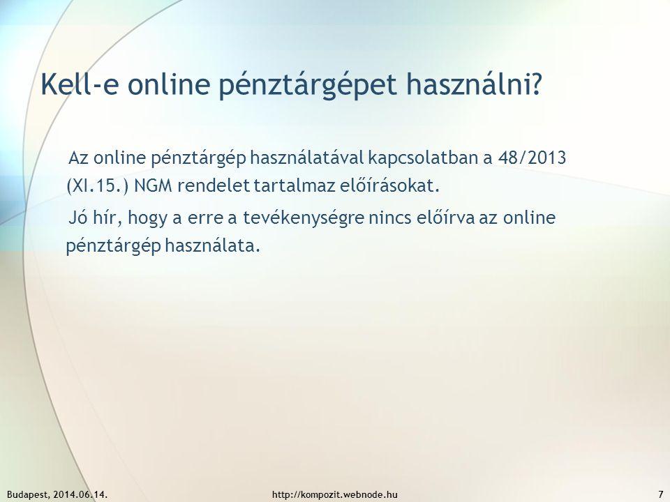 Kell-e online pénztárgépet használni? Az online pénztárgép használatával kapcsolatban a 48/2013 (XI.15.) NGM rendelet tartalmaz előírásokat. Jó hír, h