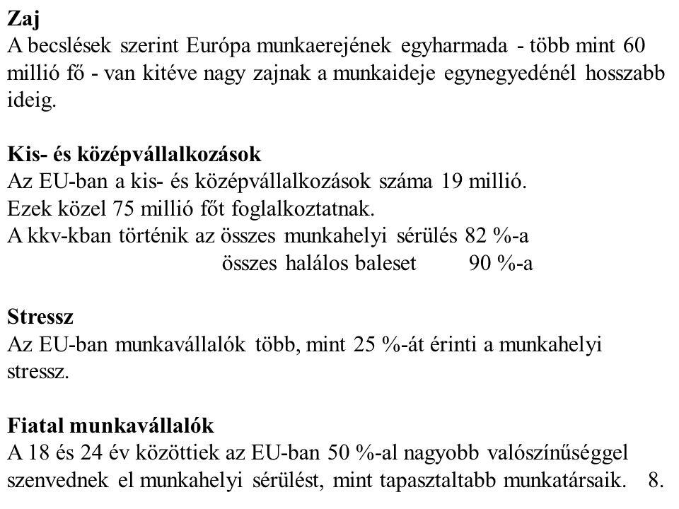 Munkabalesetek alakulása 2003-2007. 9.