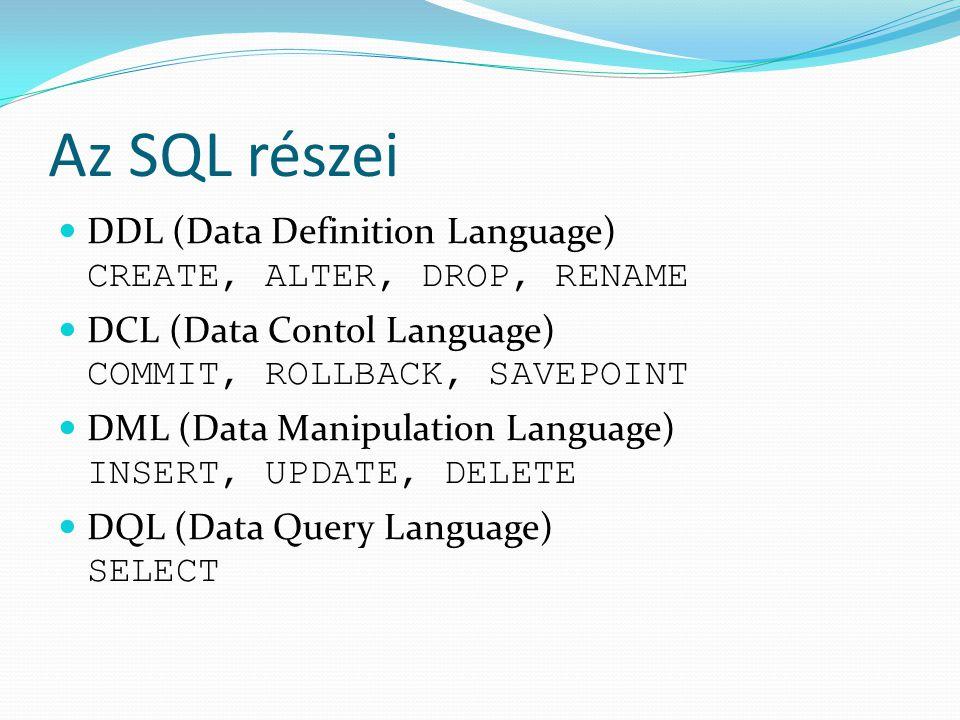 DML-utasítások