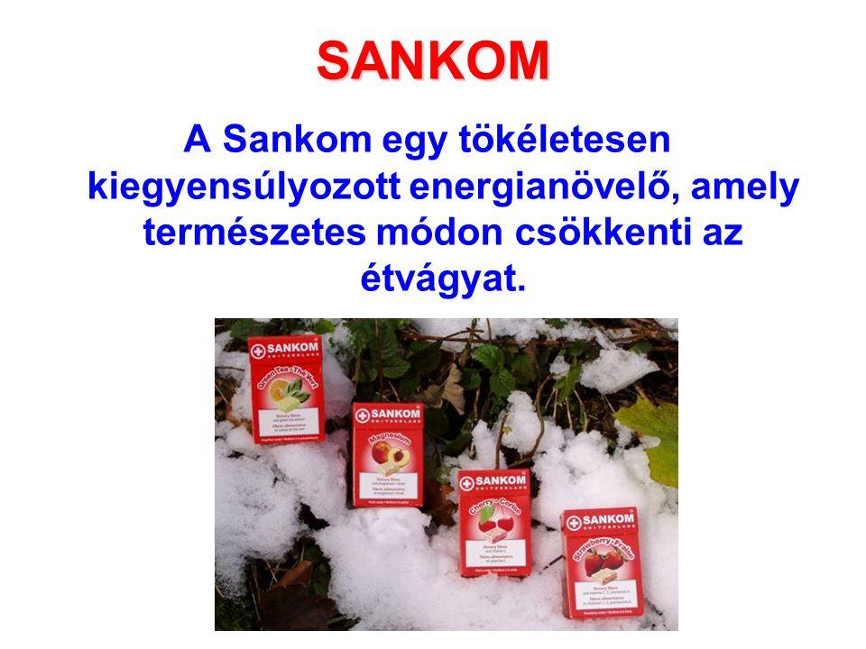 SANKOM A Sankom egy tökéletesen kiegyensúlyozott energianövelő, amely természetes módon csökkenti az étvágyat.
