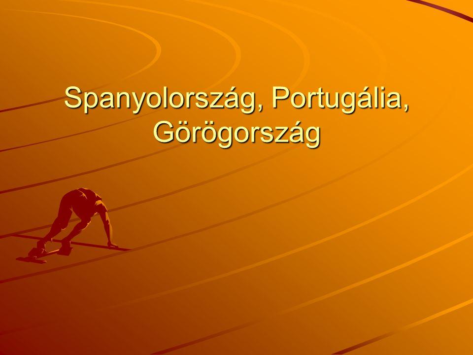 Spanyolország, Portugália, Görögország