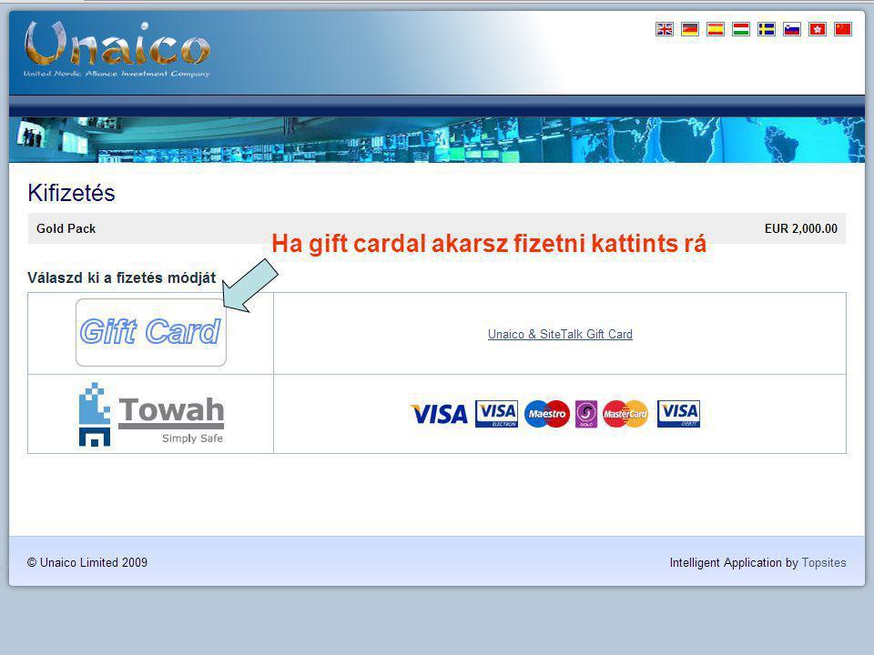Ha gift cardal akarsz fizetni kattints rá