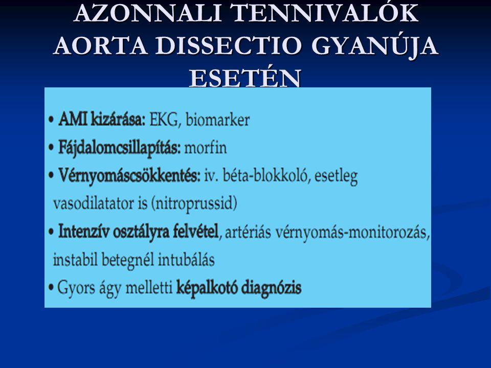 AZONNALI TENNIVALÓK AORTA DISSECTIO GYANÚJA ESETÉN