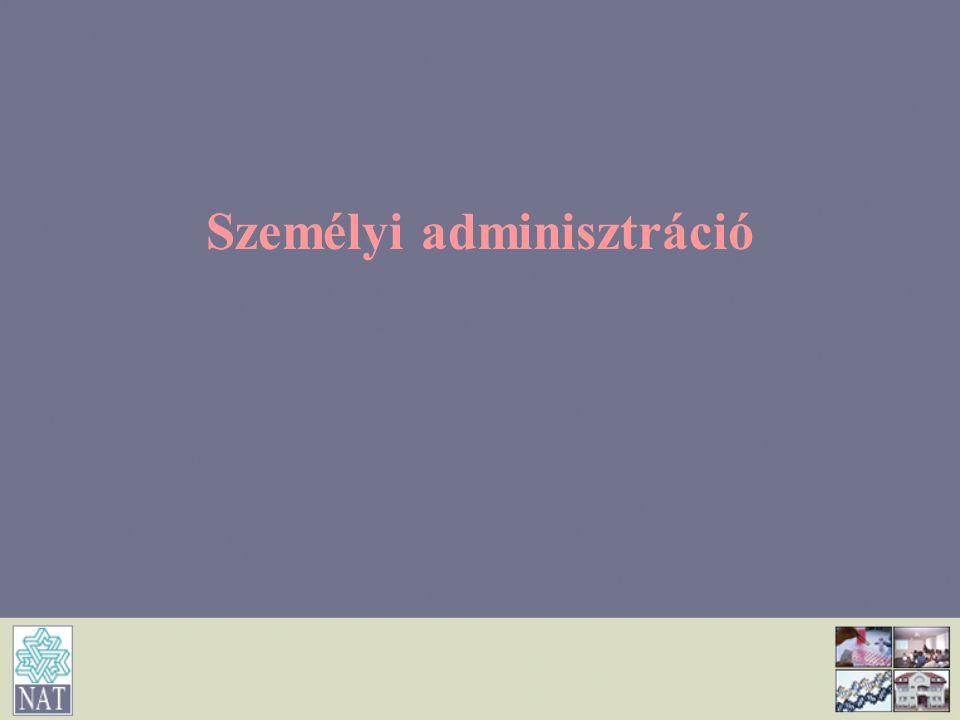 Személyi adminisztráció