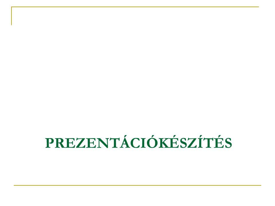 Újdonságok a Powerpoint 2007-ben Témák és kész stílusok Egyedi diaelrendezések Jó minőségű SmartArt ábrák Új és javított effektusok Új szövegbeállítások Táblázat- és diagramformázás Előadói nézet