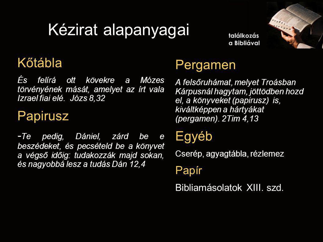 Kézirat alapanyagai Kőtábla És felírá ott kövekre a Mózes törvényének mását, amelyet az írt vala Izrael fiai elé. Józs 8,32 Papirusz - Te pedig, Dánie