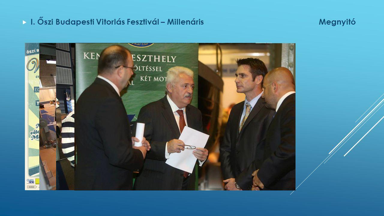  I. Őszi Budapesti Vitorlás Fesztivál – MillenárisMegnyitó