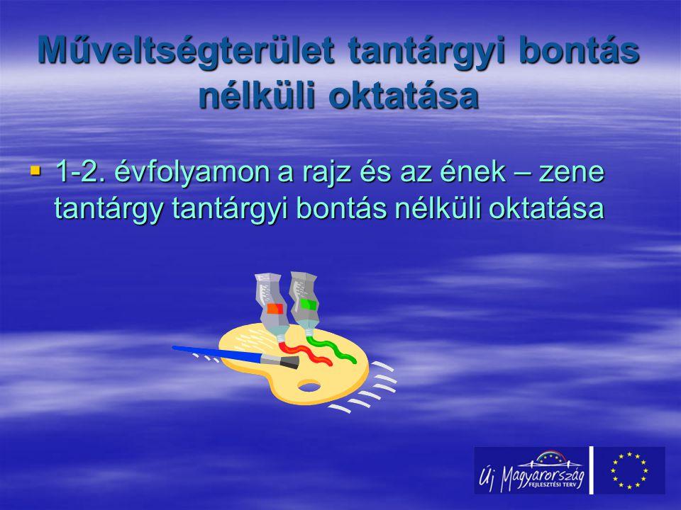 Műveltségterület tantárgyi bontás nélküli oktatása  1-2.