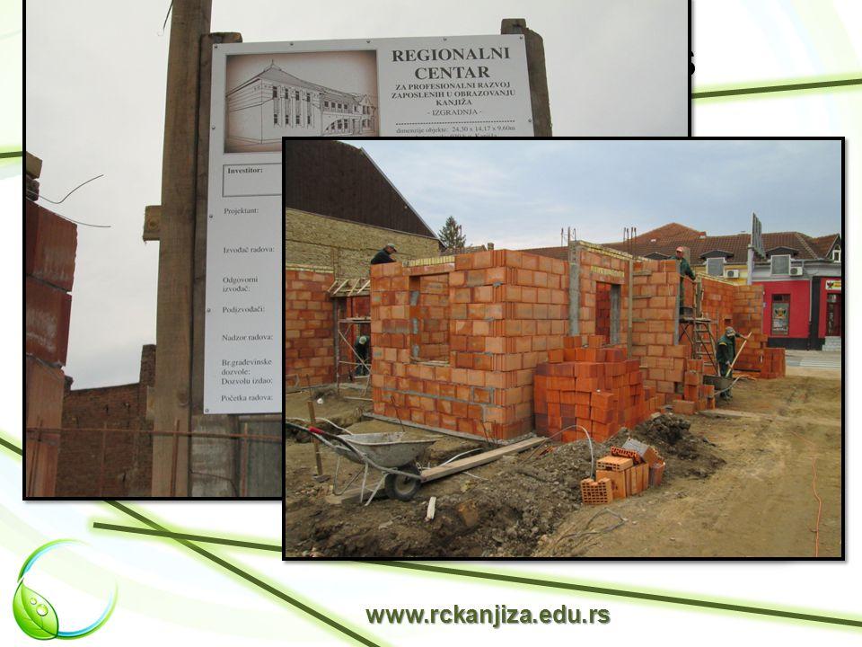 Beruházás - építkezés www.rckanjiza.edu.rs A Regionális Központ új épületet kap a svájci kormány és Magyarkanizsa község helyi önkormányzata anyagi támogatásának köszönhetően.