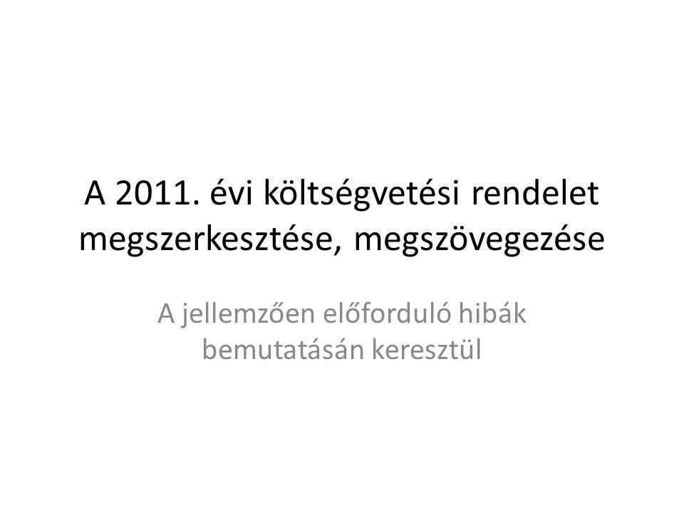 A rendelet-tervezet megjelölése Helytelen megjelölés Kis Község Képviselő-testületének …./2010.