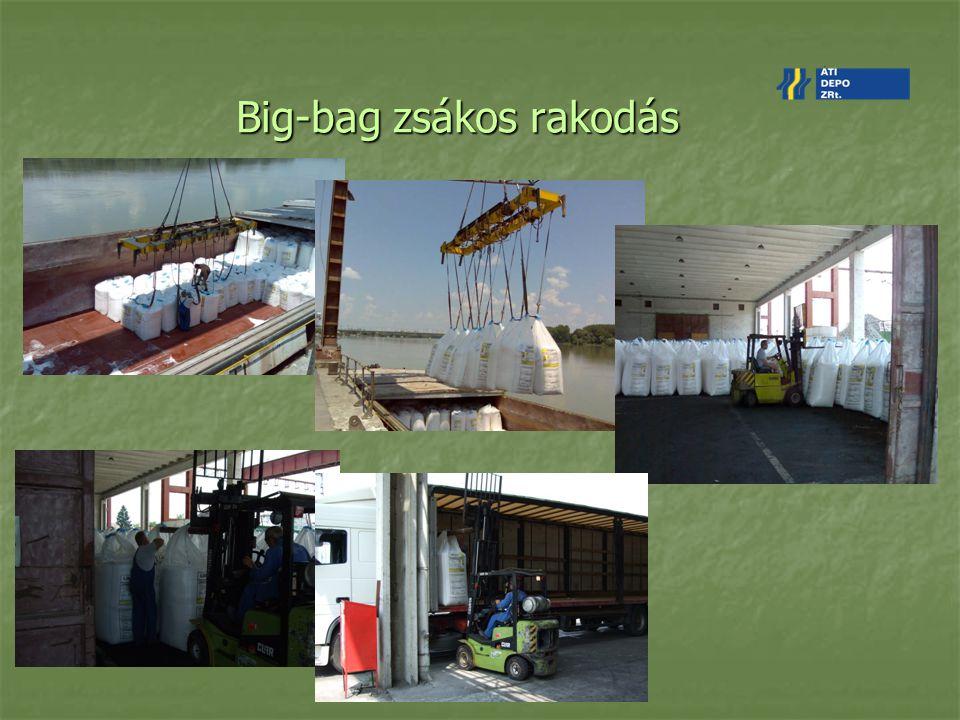 Big-bag zsákos rakodás