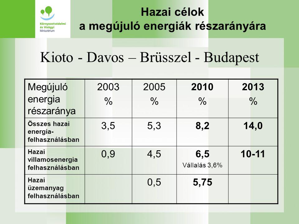 Megújuló energetikai helyzetkép Eltérő lehetőségek Hazai sajátosságok –Vízenergia (Bős) –Szél- és napenergia (tározó!) –Biohulladék (mezőgazdasági, kommunális, szennyvíziszap) –Földhő (?) –Biomassza !!.