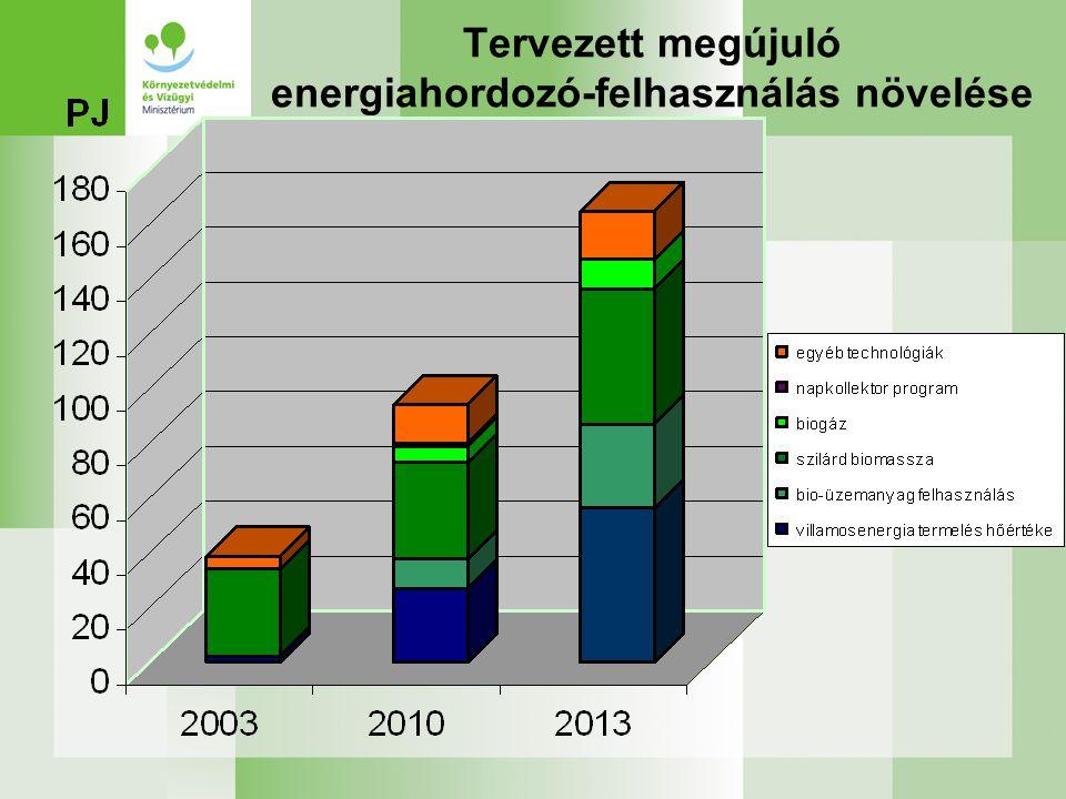 FINANSZÍROZÁS Új Magyarország Fejlesztési Terv és Új Magyarország Vidékfejlesztési Program - Biomassza felhasználás növelése (energiaerdők, energianövények termesztése, mezőgazdasági bio-hulladékok, stb) -Biogáz felhasználás növelés (bio-hull., szennyvíziszap, stb) -Közlekedési célú bio-üzemanyagok előállítása (Bioetanol, biodízel)