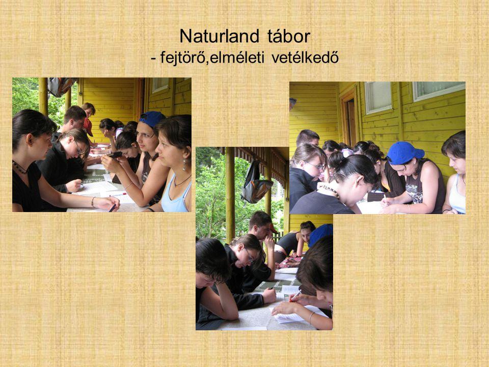 Naturland tábor - fejtörő,elméleti vetélkedő
