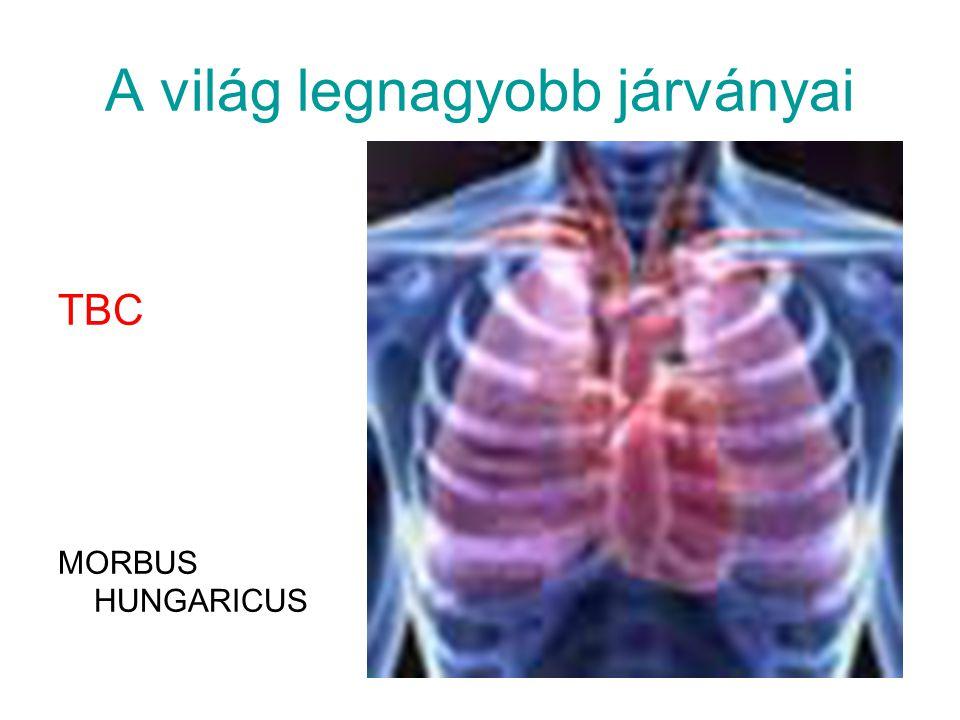 A világ legnagyobb járványai TBC MORBUS HUNGARICUS